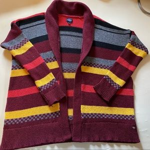 American Eagle Striped Shrug Sweater